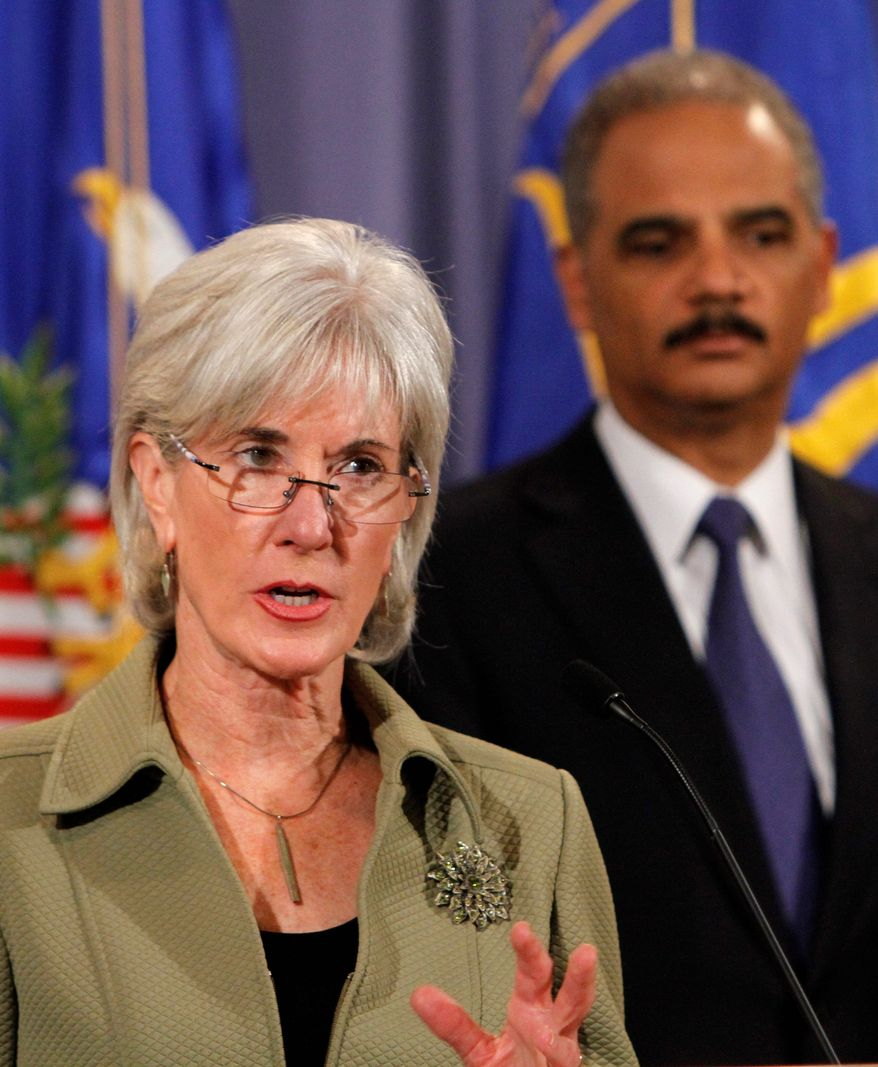 "Human Services Secretary Kathleen Sebelius called the charging of 91 people with participating in Medicare fraud schemes ""a powerful warning to those who would try to defraud taxpayers and Medicare beneficiaries."" (Associated Press)"