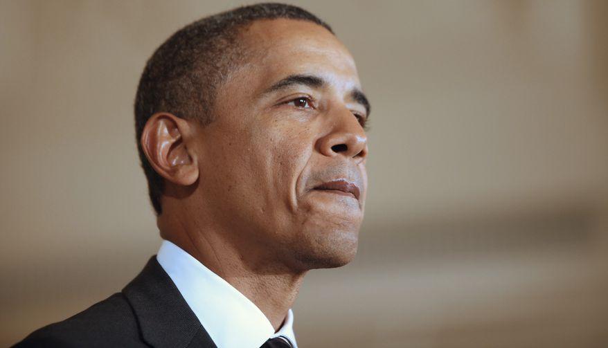 President Obama speaks in the East Room the White House in Washington on Wednesday, Sept. 7, 2011. (AP Photo/Charles Dharapak)