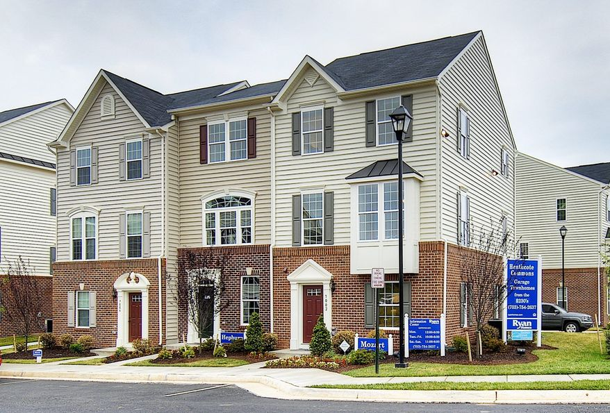 Ryan Homes is building 81 town homes and condominiums at Market Square at Frederick in Frederick. The Mozart model town home, with 1,709 square feet, is priced from $269,990.