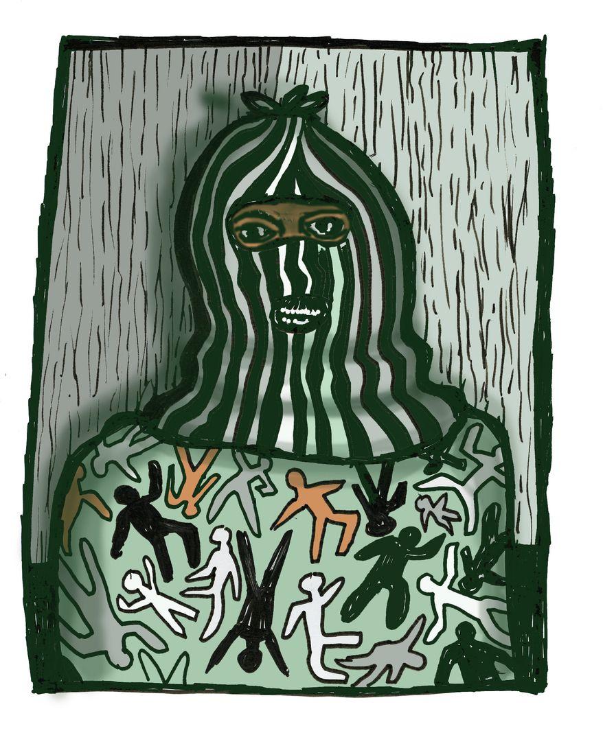 Illustration: Terrorist by John Camejo for The Washington Times