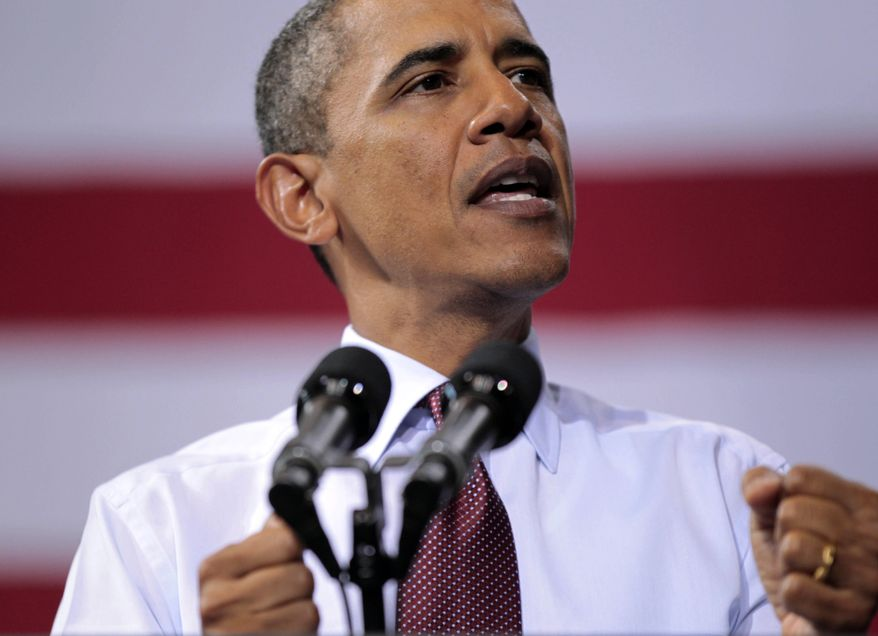 President Obama delivers remarks at the Robins Center Arena at the University of Richmond on Sept., 9, 2011, in Richmond, Va. (Associated Press)