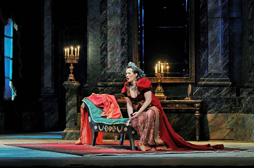 """KENNEDY CENTER The Washington National Opera's production of """"Tosca"""" includes soprano Patricia Racette, tenor Frank Porretta and bass baritone Alan Held. Puccini's timeless masterpiece of passion and political intrigue opens the WNO's 2011-2012 season."""