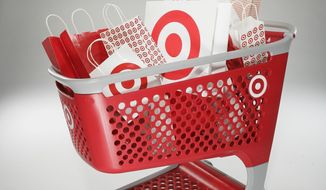 This undated photo courtesy of Target shows their new shopping cart design. The new Target shopping cart is made of lightweight recyclable material, with interchangeable plastic parts. Rust isn't a concern, repairs are easy, and scanning cart contents is a breeze. (AP Photo/Target)
