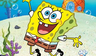 "A new study suggests that watching just nine minutes of ""SpongeBob SquarePants"" can cause short-term attention and learning problems in 4-year-olds. A Nickelodeon spokesman disputed the findings and said the show is aimed at children ages 6 to 11. (Nickelodeon via Associated Press)"