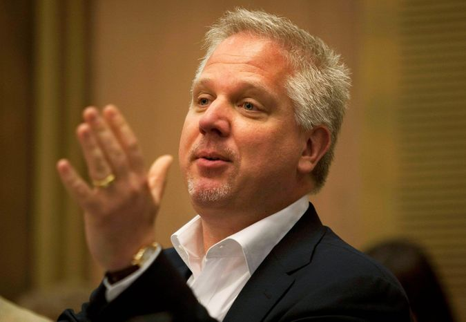 U.S. TV commentator Glenn Beck gestures as he speaks in the Knesset, Israel's parliament, in Jerusalem, Monday, July 11, 2011. Conservative U.S. television commentator Glenn Beck received several rounds of applause by Israeli lawmakers as he voiced his unequivocal support for Israel during a visit to Jerusalem. He spoke Monday before a packed parliamentary committee. (Associated Press)