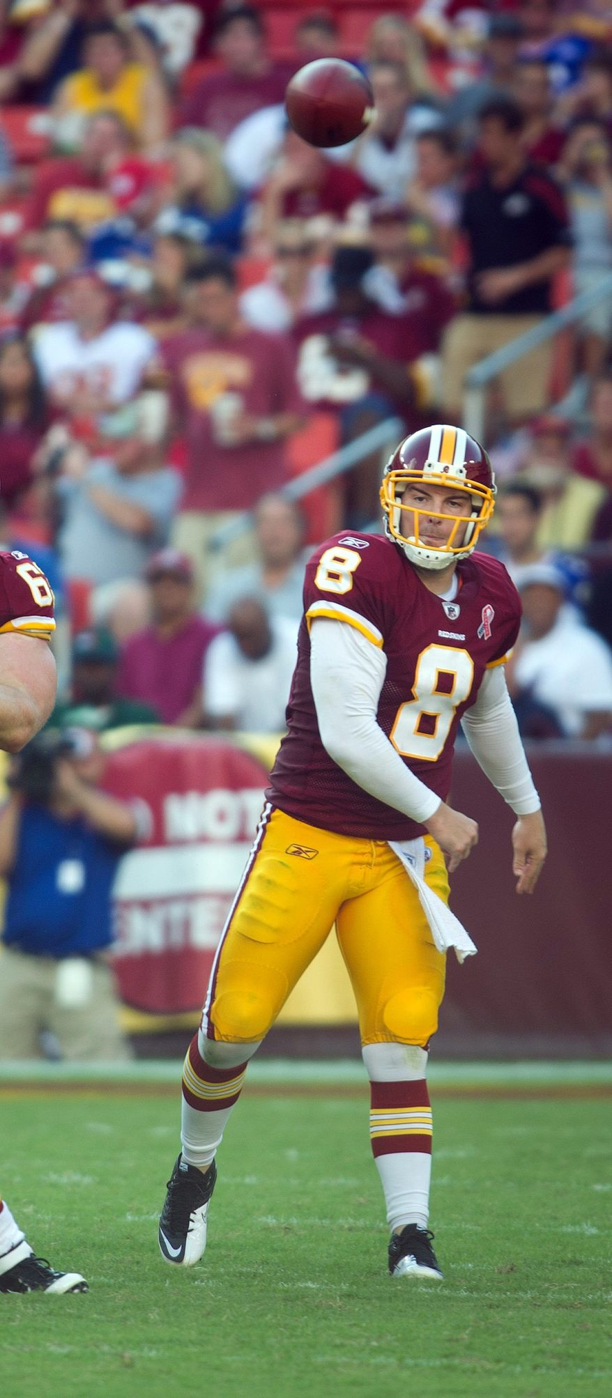 The Redskins, behind quarterback Rex Grossman, were one of 14 teams with at least 300 yards passing in Week 1. New England, Carolina, Miami and New Orleans topped 400. (Rod Lamkey Jr./The Washington Times)