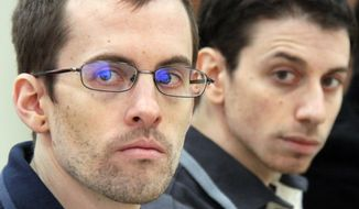 Iran has set bail for American hikers Shane Bauer (left) and Josh Fattal at $500,000. (Associated Press)
