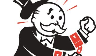 Illustration: Antitrust by Linas Garsys for The Washington Times