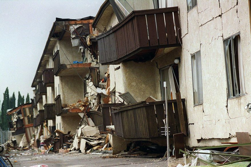 A bill in Congress would cut rates for earthquake insurance so more homeowners can afford it, but critics say it's just a bailout for California, which bears the brunt of quake activity in the U.S. The 6.7 magnitude Northridge quake (pictured) in 1994 caused an estimated $20 billion in damage. (Associated Press)