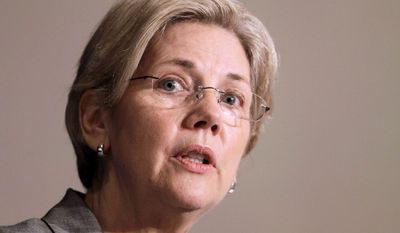 ** FILE ** In this April 11, 2011, file photo, Elizabeth Warren, then-assistant to the president, speaks during a summit on consumer protection by the National Association of Attorneys General in Charlotte, N.C. The consumer advocate Warren is jumping into the Massachusetts race against Republican Sen. Scott Brown. (AP Photo/Chuck Burton)