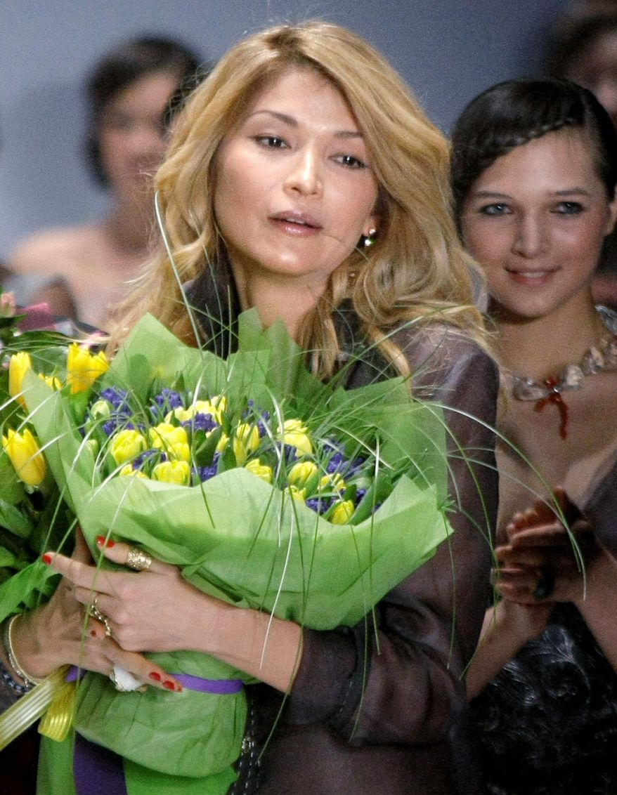 Gulnara Karimova has carved out an image as a fashionable jet-setter, but at home in Uzbekistan she is is viewed as a possible successor to her father, the country's aging authoritarian leader Islam Karimov. (Associated Press)