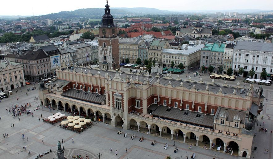 In the Old Town of Krakow, Poland, visitors can find a mix of tradition and trend. (Associated Press)