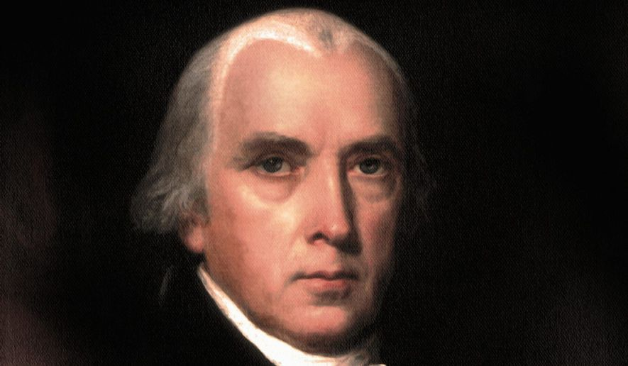 """James Madison is known as the """"Father of the Constitution."""" (Photograph provided by the Montpelier Foundation) **FILE**"""