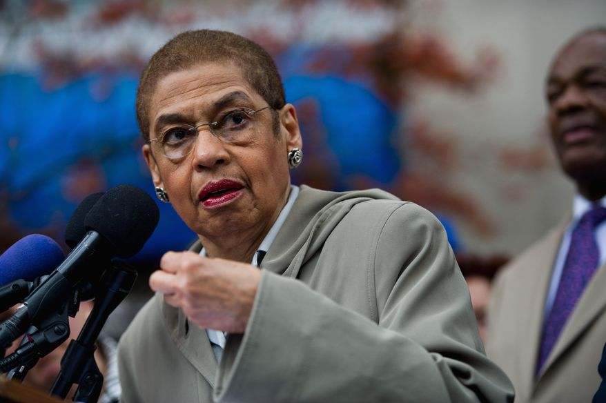 ** FILE ** Delegate Eleanor Holmes Norton (The Washington Times)