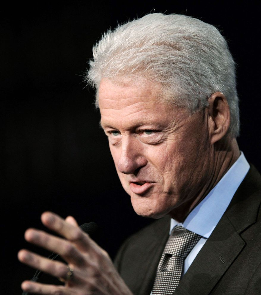 """Former President Bill Clinton said of President Obama's current low poll ratings, """"When you are out there running against yourself and people feel miserable, it's hard to see your numbers go up."""" (Associated Press)"""