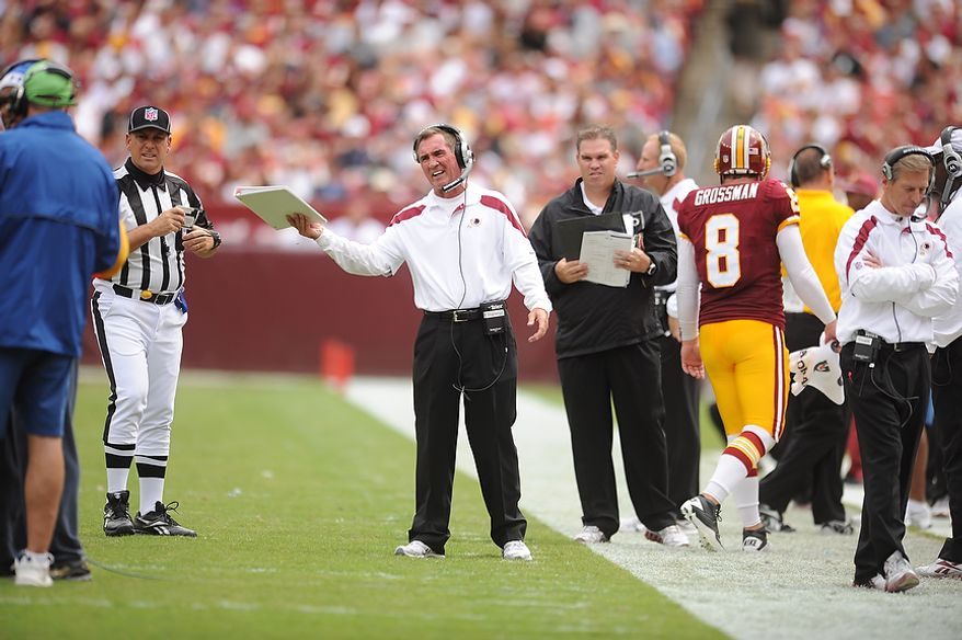 the Arizona Cardinals at FedEx Field in Landover, Md., on Sunday, September 18, 2011. (Andrew Harnik/The Washington Times)