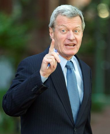 """""""Opening new markets for our farmers, ranchers and businesses ... has to be done in a way that puts American jobs first,"""" says Sen. Max Baucus, Montana Democrat and Senate Finance Committee chairman. (Associated Press)"""