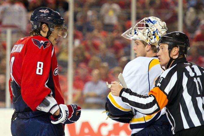 Left wing Alex Ovechkin (left) scored 32 goals last season, but just seven came with the Capitals on the power play. Washington was a combined 6 for 68 with the man advantage in the playoffs the past two seasons. (Andrew Harnik/The Washington Times)