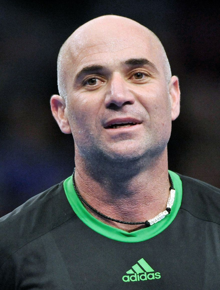 Andre Agassi has won eight Grand Slams and an Olympic gold medal in his career. (Associated Press)