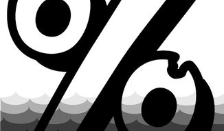 Illustration: Tax rate by Alexander Hunter for The Washington Times