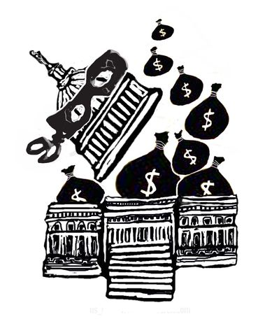 Illustration: Ponzi scheme by John Camejo for The Washington Times