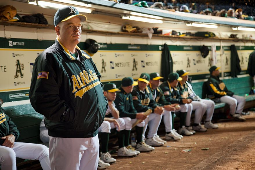 "In this image released by Sony Pictures, Philip Seymour Hoffman is shown in a scene from ""Moneyball."" (AP Photo/Columbia Pictures-Sony, Melinda Sue Gordon)"