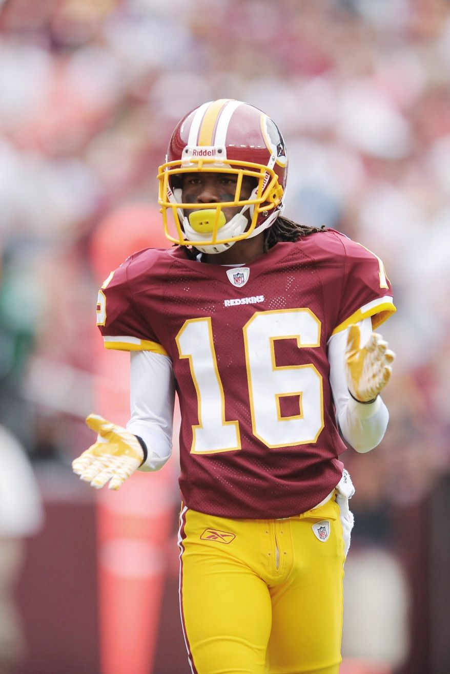 Redskins wide receiver and return-specialist Brandon Banks is a threat to take any kick back for a touchdown. (Andrew Harnik/The Washington Times)