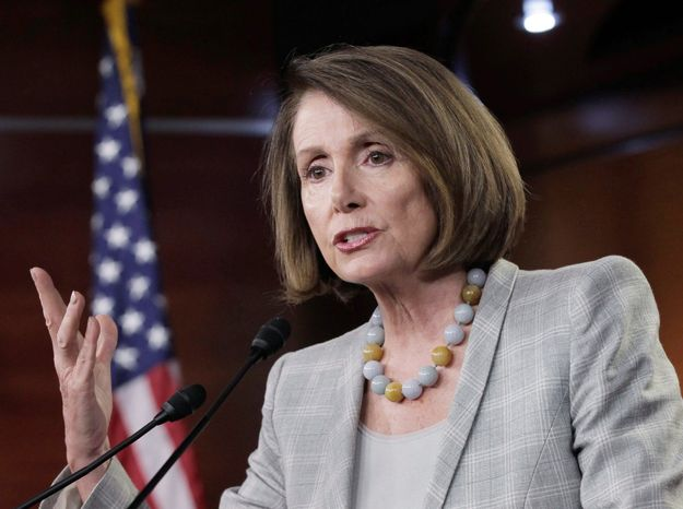 """Assistance at a time of a natural disaster should not be a controversial issue. It hasn't been before. We're not going to balance the budget on the backs of people who have already been hit by a disaster,"" said House Minority Leader Nancy Pelosi, California Democrat. (Associated Press)"