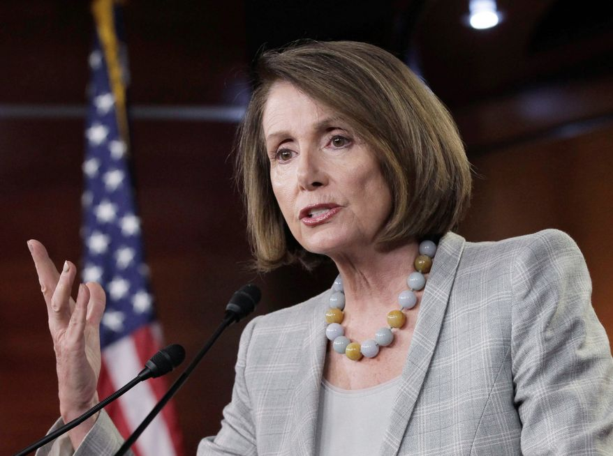 """""""Assistance at a time of a natural disaster should not be a controversial issue. It hasn't been before. We're not going to balance the budget on the backs of people who have already been hit by a disaster,"""" said House Minority Leader Nancy Pelosi, California Democrat. (Associated Press)"""