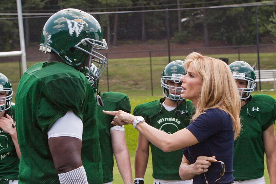 """Lower-budget box office winners include """"The Blind Side"""" with Quinton Aaron and Sandra Bullock."""