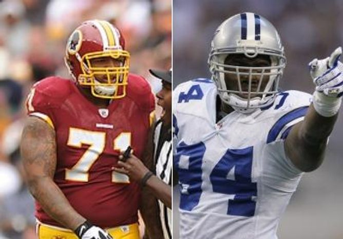 Washington Redskins tackle knows he will have a tough time containing Dallas Cowboys Pro Bowl defensive end DeMarcus Ware.
