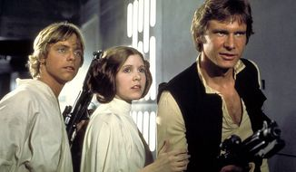 "Mark Hamill, Carrie Fisher and Harrison Ford in ""Star Wars"" (Lucasfilm Ltd./Twentieth Century Fox Home Entertainment)"