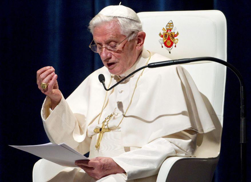 Pope Benedict XVI (AP Photo/Miro Kuzmanovic, Pool)