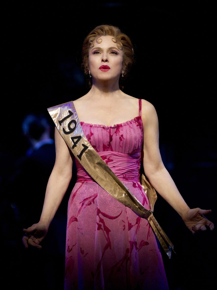 """Bernadette Peters stars in a revival of Stephen Sondheim's """"Follies,"""" which originated at the Kennedy Center in Washington and will run in New York through Jan. 22. (AP Photo/Boneau/Bryan-Brown)"""
