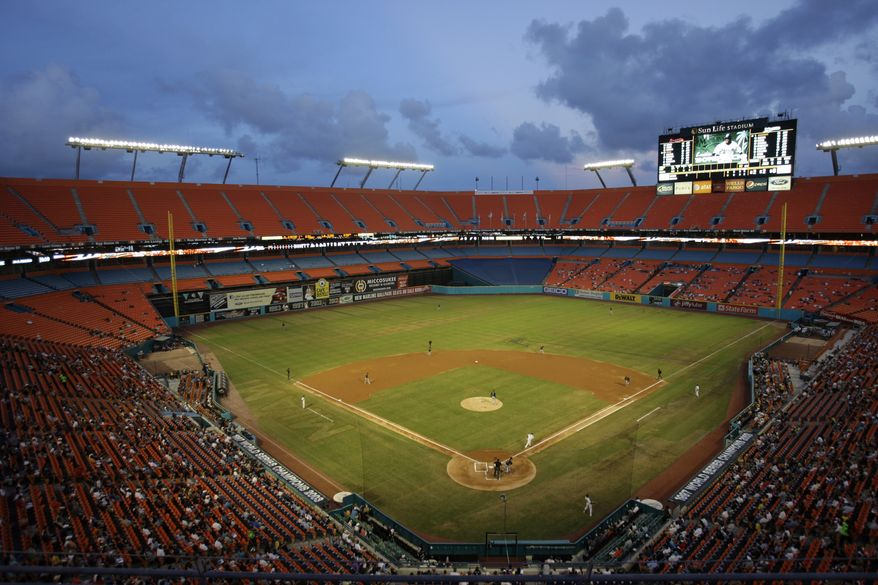 The Washington Nationals will play the Florida Marlins in their last series at Sun Life Stadium. (AP Photo/Lynne Sladky)