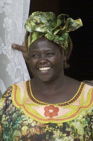 ** FILE ** Wangari Maathai, pictured in 2004, was Africa's first female Nobel Peace Prize laureate. (AP Photo/Khalil Senosi, File)