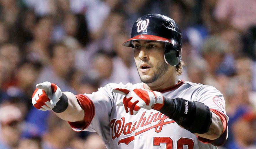 Nationals slugger Michael Morse was a career utility player until taking over at first base for Adam LaRoche, who suffered a season-ending shoulder injury. (Associated Press) **FILE**