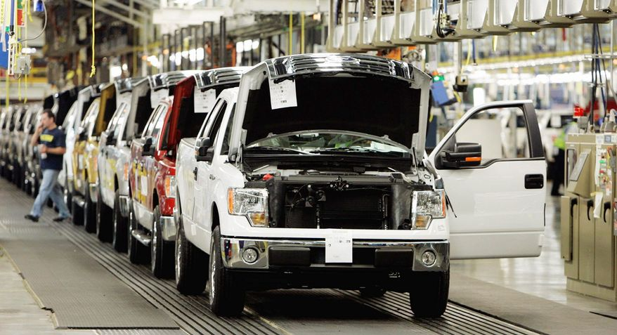 Along the assembly lines at Ford's Dearborn, Mich., plant where F-150 trucks roll off the line, talk is about winning back raises and bonuses in current labor talks, money they lost when the company was near collapse in 2007. (Associated Press)