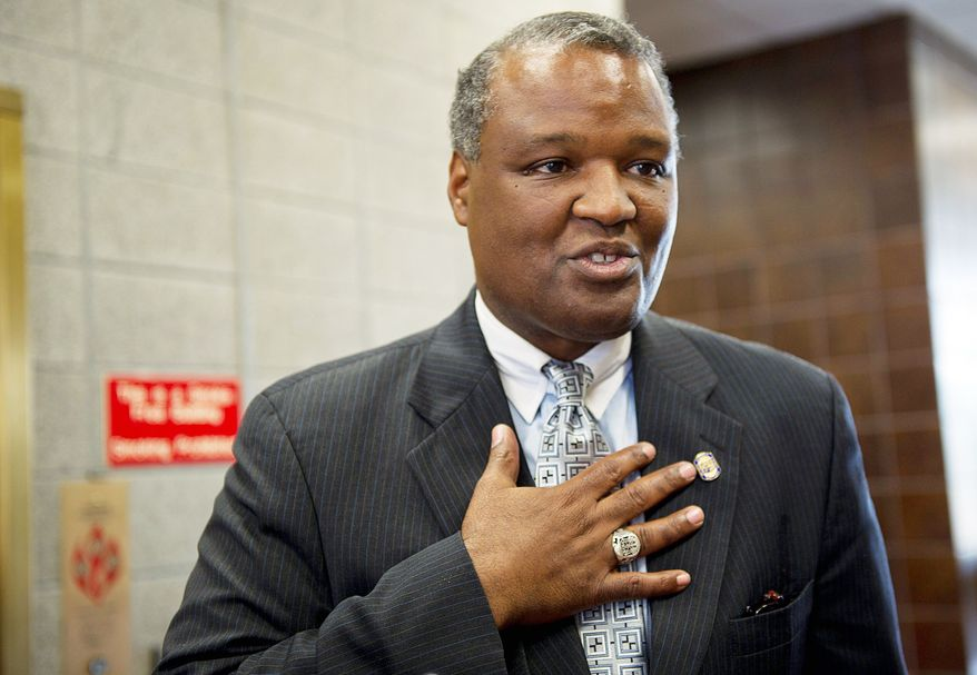 """""""This would not have been possible unless we could bring all of our agencies together,"""" said County Executive Rushern L. Baker. (Barbara L. Salisbury/The Washington Times)"""