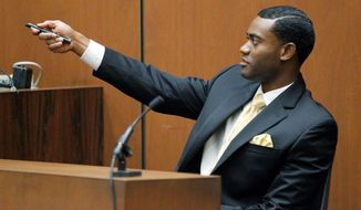 Michael Amir Williams, Michael Jackson's personal assistant, testifies Wednesday in the trial of Conrad Murray, the doctor charged with involuntary manslaughter in the superstar's June 2009 death. (Associated Press)
