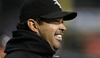** FILE ** Chicago White Sox manager Ozzie Guillen was named manager of the Florida Marlins on Wednesday, Sept. 28, 2011. (AP Photo/Charles Rex Arbogast, File)