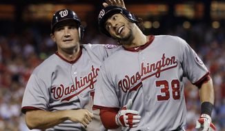 Washington Nationals' Ryan Zimmerman and Michael Morse will be at the forefront of the Nationals' attack next year. Pitchers and catchers report to Spring Training on Feb. 14.  (AP Photo/Matt Slocum)