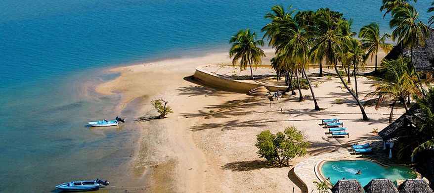 In this undated image provided by the Manda Bay resort hotel, a beach at Manda Island, Kenya, is seen. Suspected Somali pirates driving their boat under the cover of darkness kidnapped an elderly Frenchwoman on a resort island in northern Kenya early Saturday, Oct. 1, 2011, a Western official and an area resident said. (AP Photo/Courtesy of Manda Bay)