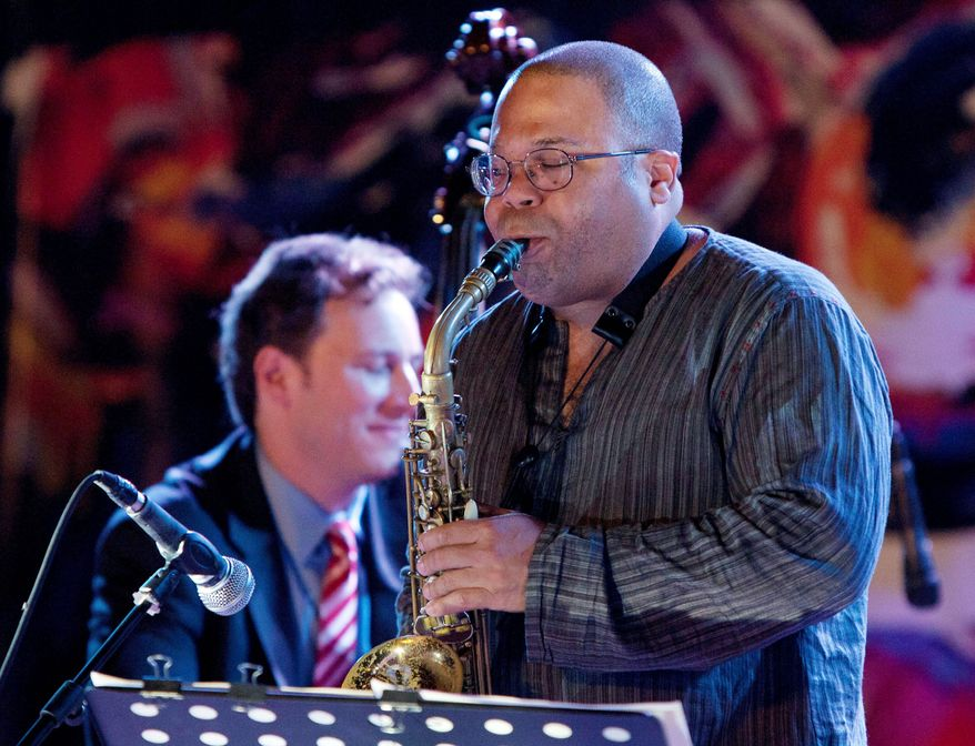Saxophonist Zaid Nasser performs with the Ari Roland Jazz Quartet, an American group which is performing a series of concerts with local musicians in Pakistan and giving music classes.