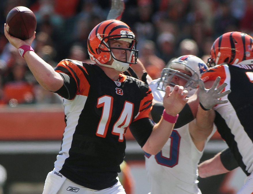 Cincinnati quarterback Andy Dalton recovered from a horrid first half to lead his first comeback victory Sunday as the Bengals defeated the Buffalo Bills 23-20. (Associated Press)