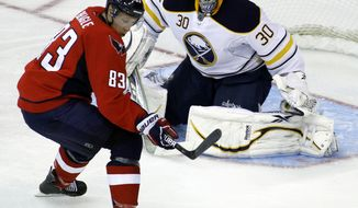 Washington Capitals' Jay Beagle returned from a concussion against the New York Rangers on Dec. 28, 2011 in the Caps' 4-1 win. (AP Photo/Luis M. Alvarez)