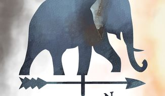 Illustration: Republican direction by Linas Garsys for The Washington Times