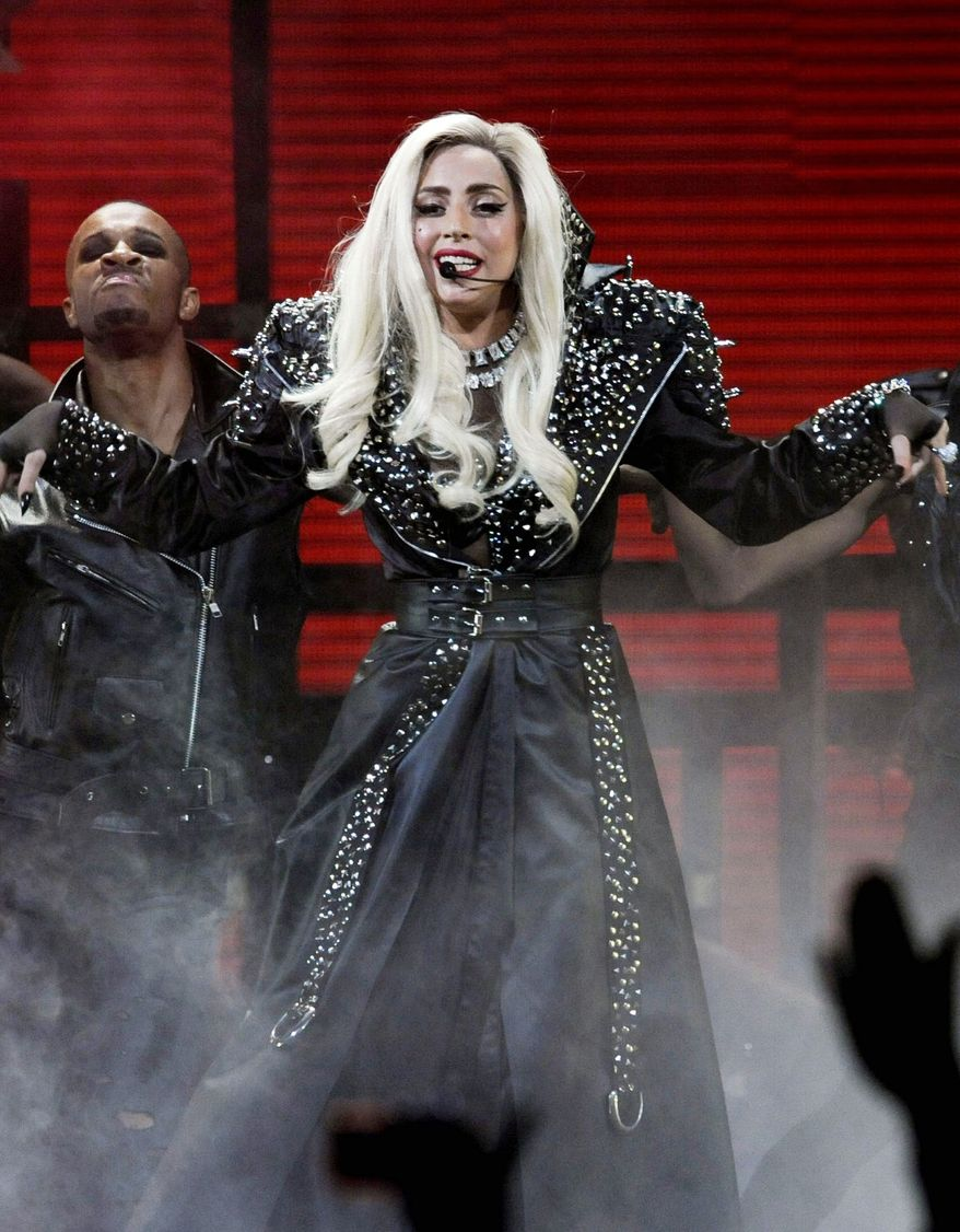 President Obama said Lady Gaga was wearing 16-inch heels during a gathering both attended. (Associated Press)