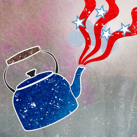 Illustration: Tea Party steam by Greg Groesch for The Washington Times