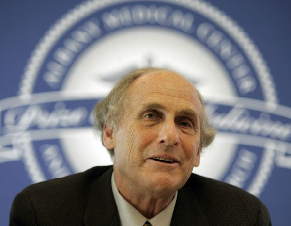 **FILE** Ralph Steinman of Rockefeller University speaks during a news conference in Albany, N.Y., on April 24, 2009. (Associated Press)